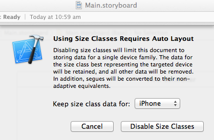 Disabling size classes