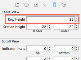 Right table cell height